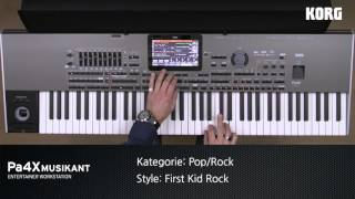 KORG Pa4X MUSIKANT Style Demos: POP & ROCK Styles