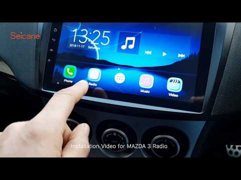 How to Install Stereo Upgrade Seicane 2009 2010 2011 2012 MAZDA 3 Radio Gps Navigation Review