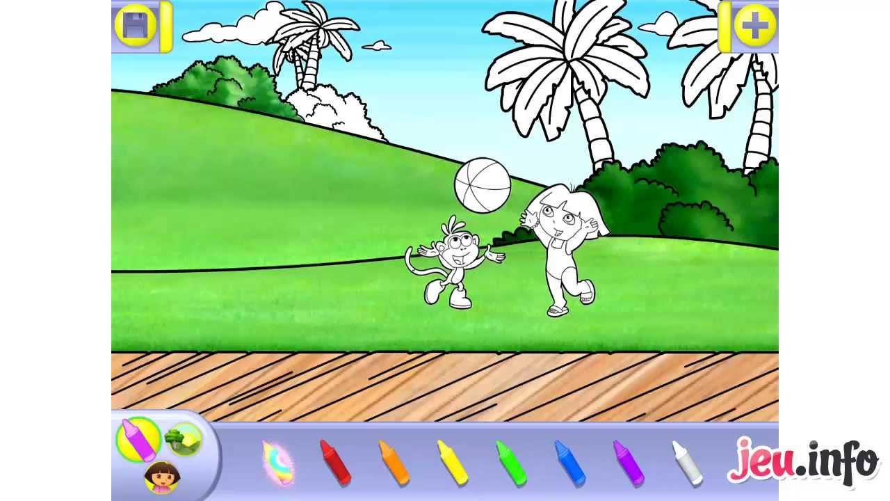 jeu dora lexploratrice coloriages ipad