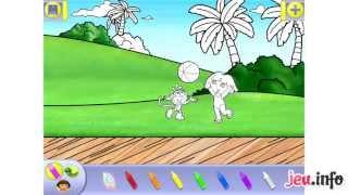 Jeu Dora l'Exploratrice Coloriages ! iPad