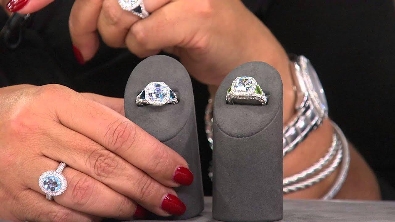 Asscher Cut Peridot Ring