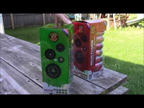 """Red Apple Fireworks - Neon Fusion 5"""" Canister Shells"""