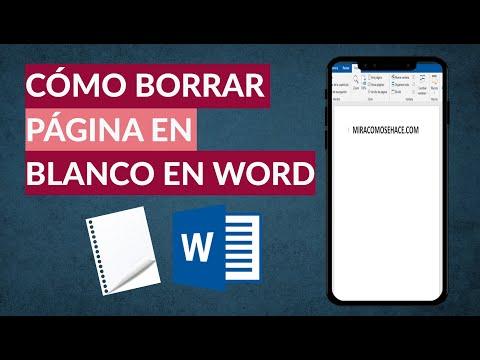 Cómo Borrar o Eliminar una Página en Blanco en Word