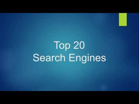 Top 20 Search Engines