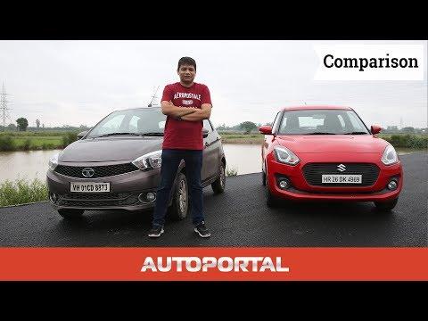 Tata Tiago Vs Maruti Suzuki Swift Comparison Review - Auto Portal