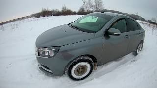 Лада Веста в снегу. Зимний off-road Lada Vesta