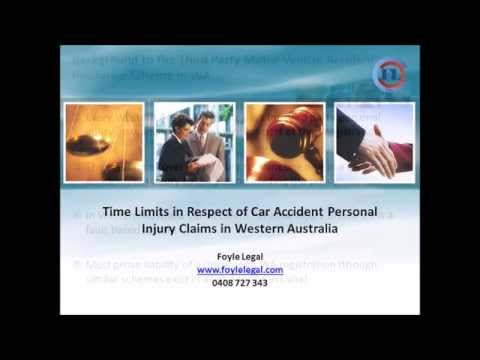 Car accident compensation claims in WA: Time Limits