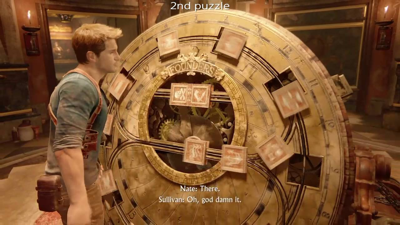 Uncharted 4 : Founders wheel puzzle - YouTube