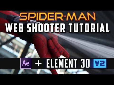 Spider-Man Web Shooter Effect TUTORIAL | Adobe After Effects and Element 3D