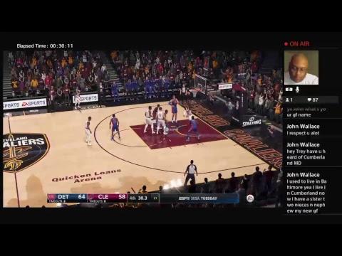 Detroit Pistons Vs Cleveland Cavaliers...NBA Live 18