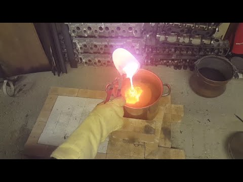 Water Casting Shibuichi Ingots - A Japanese Copper Silver Alloy