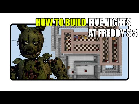 How To Build Five Nights at Freddy's 3 Map in Minecraft (Fnaf 3 Map)