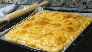 Empanada de pollo. Masa casera muy fácil y rápida