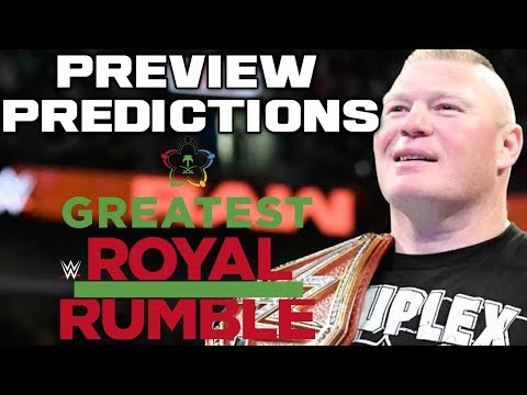 50 MAN ROYAL RUMBLE MATCH!  WWE Greatest Royal Rumble Full Show Preview & Predictions