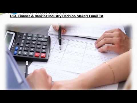 USA Finance Banking Industry Decision Makers Email