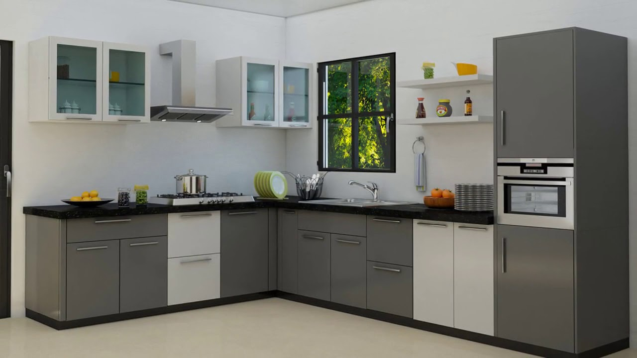 Modular Kitchen Design For Small Area In India Modular Kitchen Designs For Small Kitchens India Youtube