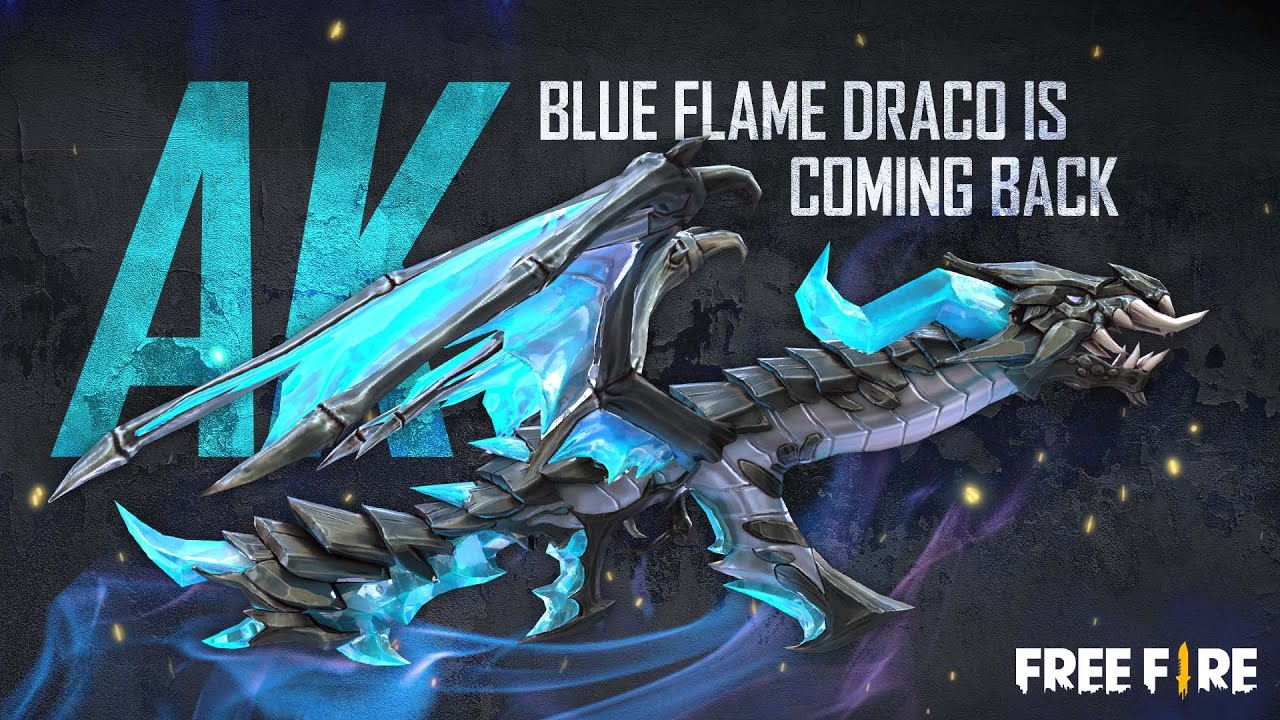 IT IS COMING BACK: Blue Flame Draco AK | Garena Free Fire