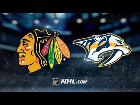 CHICAGO BLACKHAWKS VS NASHVILLE PREDATORS HIGHLIGHTS 3/4