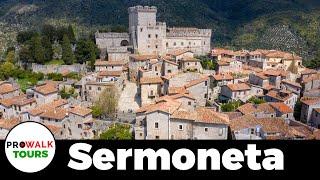 Italian Medieval Castle Town of Sermoneta Walking Tour in 4K