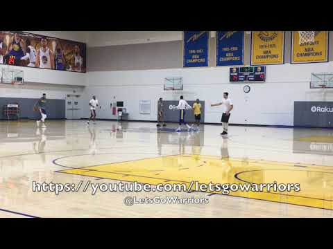 3-on3: Zaza (dunk!), Willie Green and Omri vs McCaw, JaVale and Looney + Casspi shooting around