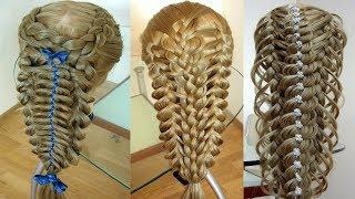 Сборник  Оригинальные косы  Косы в школу  Косы для девочки  Курс плетения кос