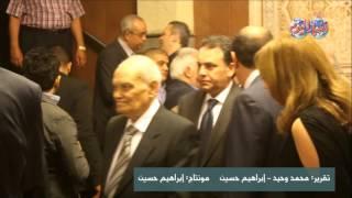 سامح الصريطي في عزاء الإعلامي أمين بسيوني