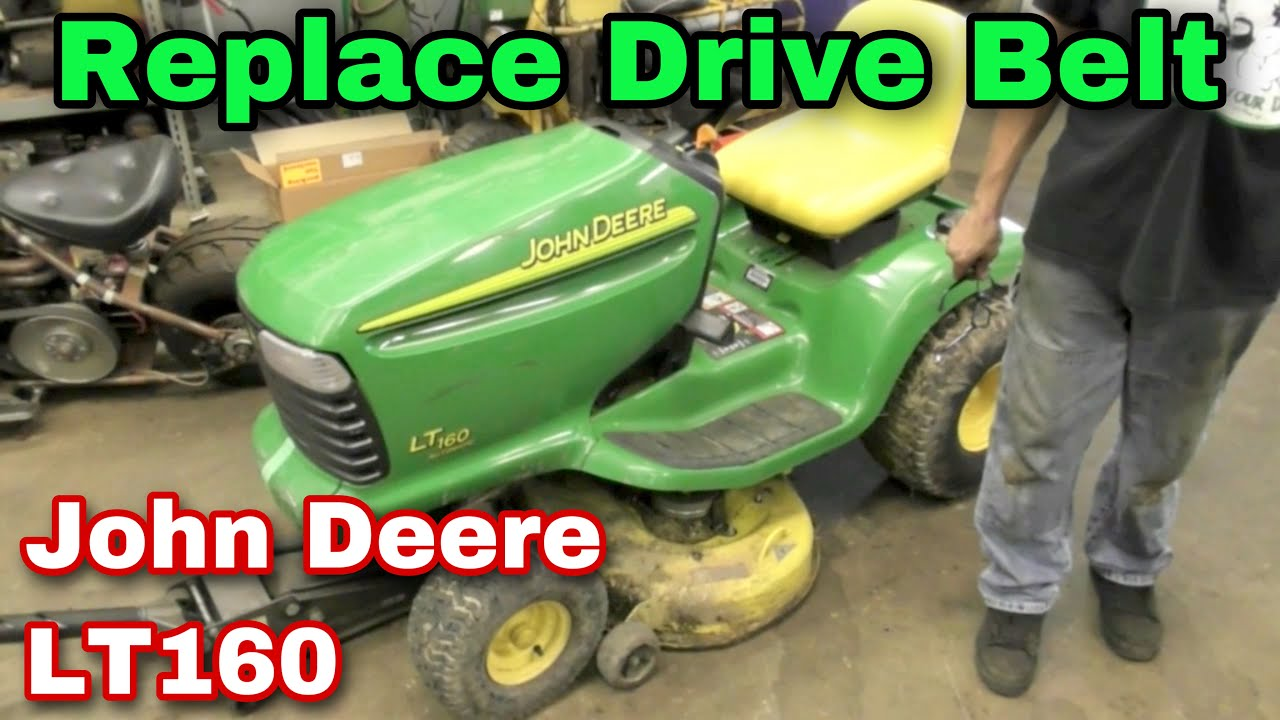 How To Replace The Drive Belt On A John Deere Lt160 Riding Mower Lx277 And Idlers Exploded Parts Diagram Dacula Youtube