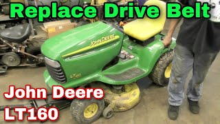 How To Replace The Drive Belt On A John Deere LT160 Riding Mower - Dacula