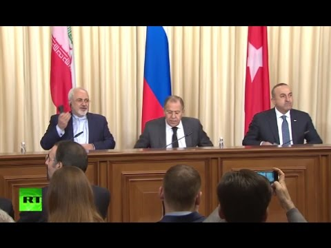 Russian, Turkish, Iranian FMs speak after Moscow meeting on Syria (Streamed live)