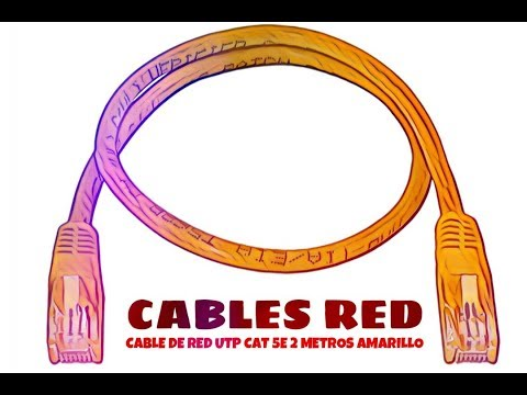 Video de Cable de red UTP CAT5E 2 M Amarillo