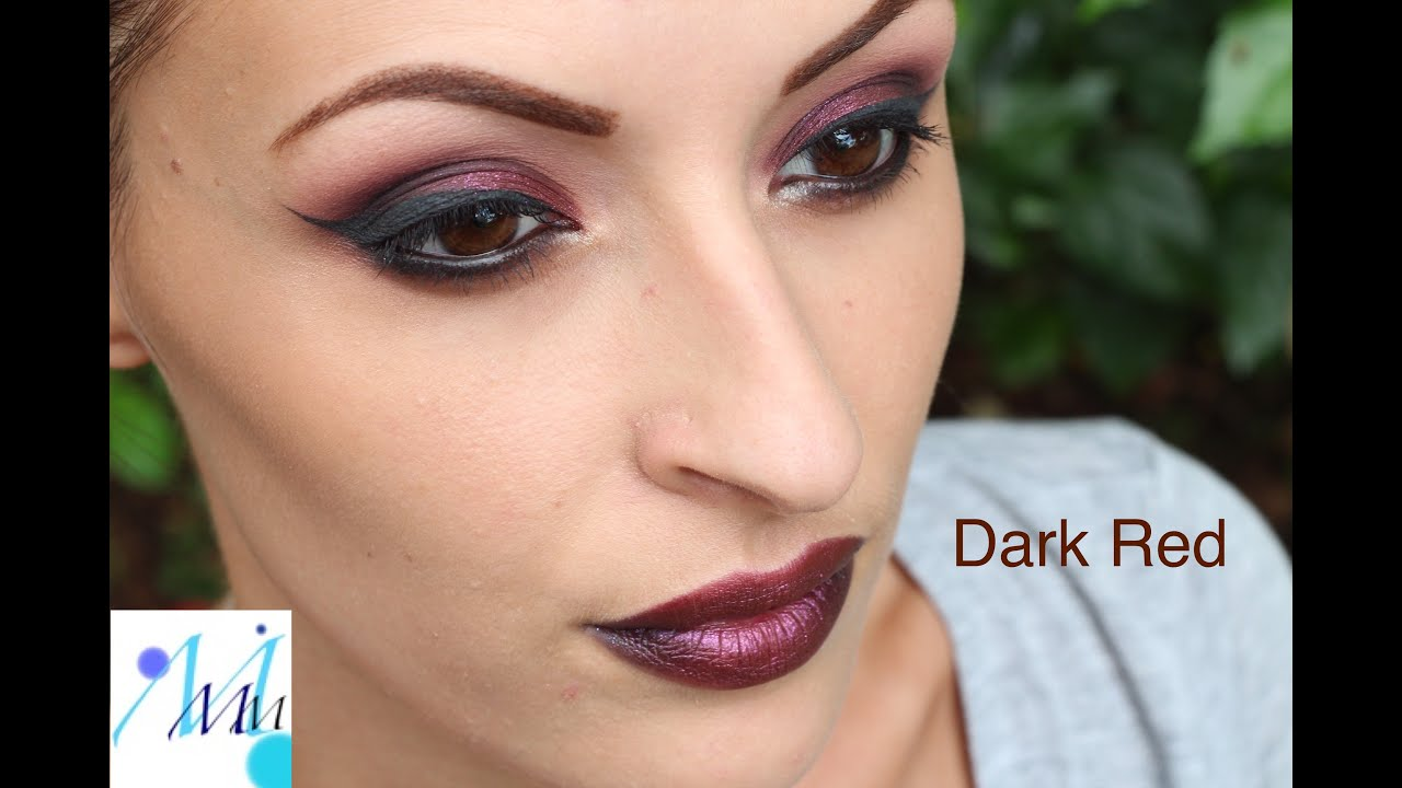 Maquillage De Soir E Night Makeup Tutorial Red Smokey Youtube