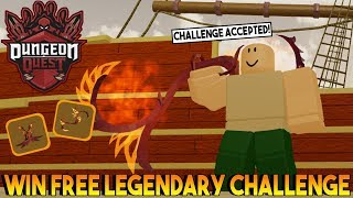 FREE LEGENDARY CHALLENGE IN DUNGEON QUEST ROBLOX