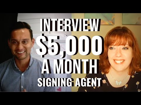 Interview-Former escrow officer to $5,000 a month notary signing agent! (Michigan)