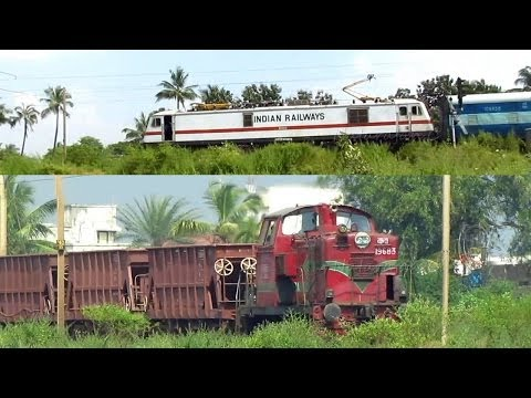 India's Only Hydralic Diesel Locomotive WDS4 Meets WAP7..