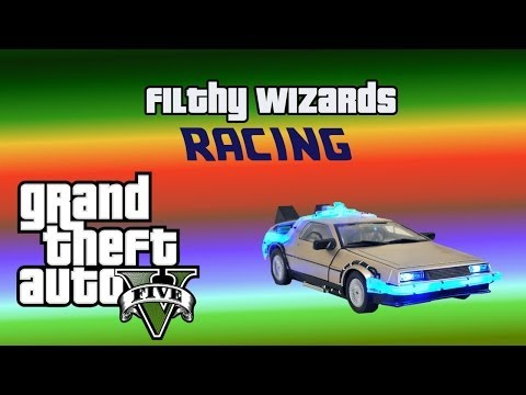 GTA 5 Online Races & Funny Moments (Delorean race, Voice cha