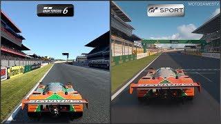 Gran Turismo 6 vs Gran Turismo Sport - Mazda 787B at Circuit de la Sarthe