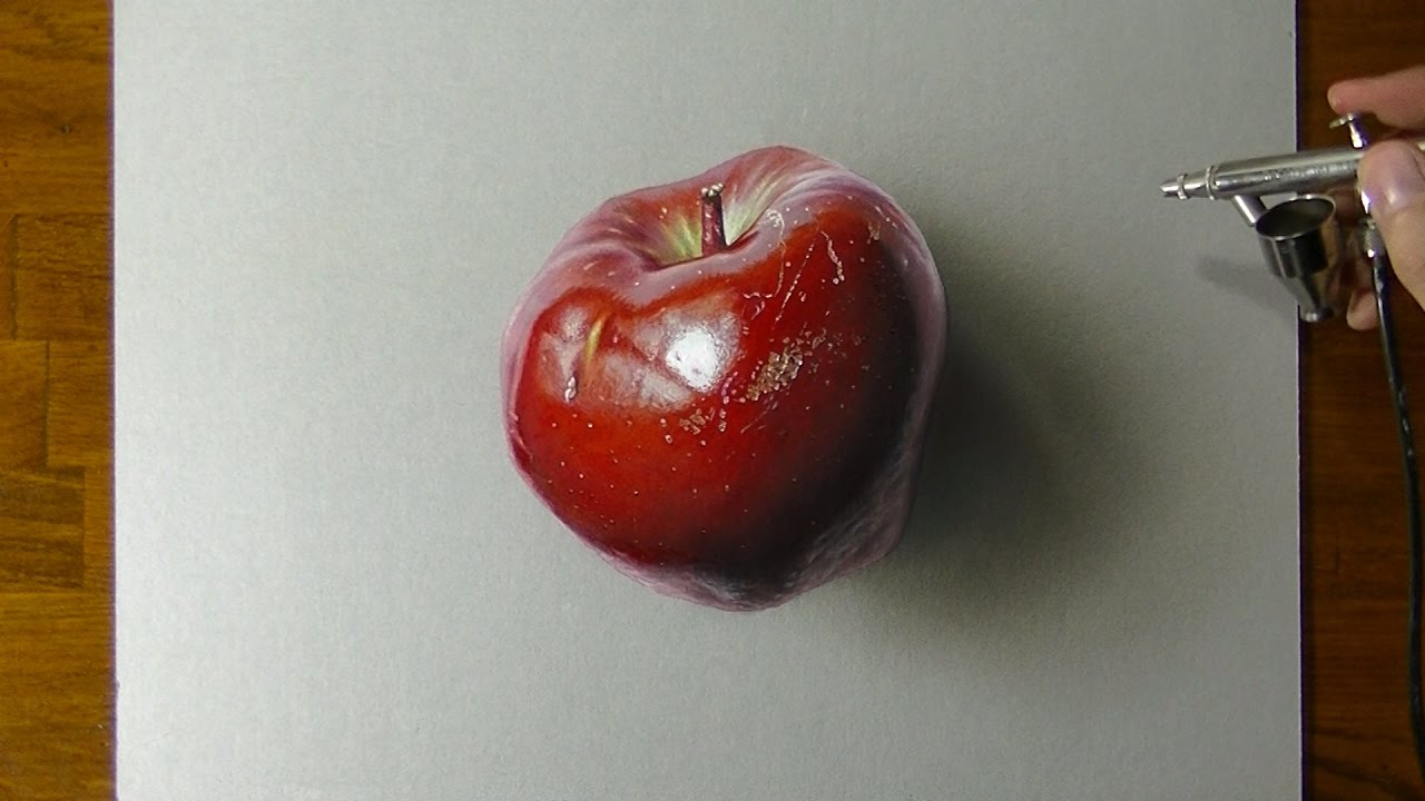 Drawing a Red Apple - I have a (lot of) pen I have a apple...