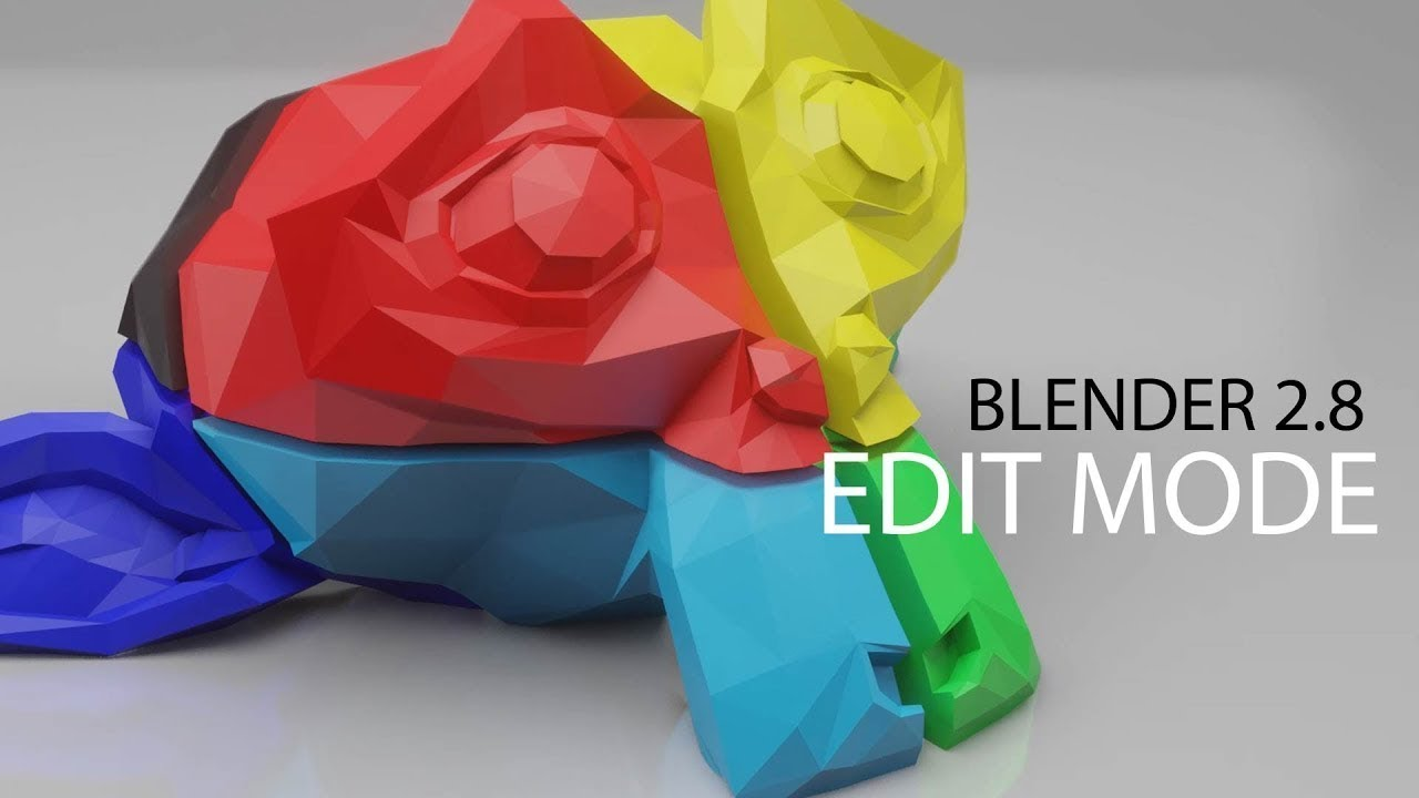Edit Objects in Blender 2.8 - Overview of Vertices, Edges, & Faces