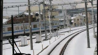 【大雪】西武池袋秩父線上り前面展望(西武秩父→飯能)【2018年1月23日】