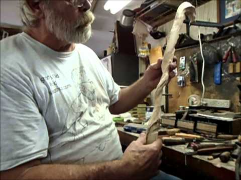 How to make a carved wooden cane
