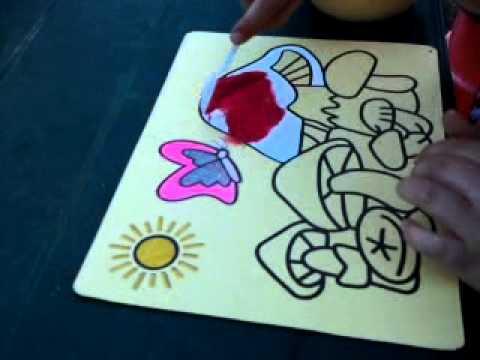 Malowanie Piaskiem Obrazki Piaskowe Dla Dzieci Fikolo Youtube