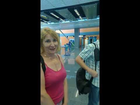 В очереди, регистрация на рейс в Борисполе