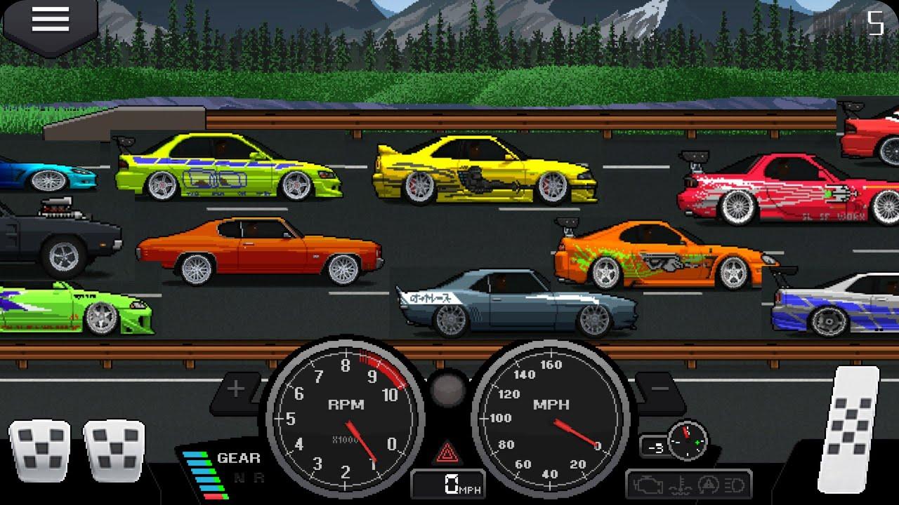 repeat pixel car racer