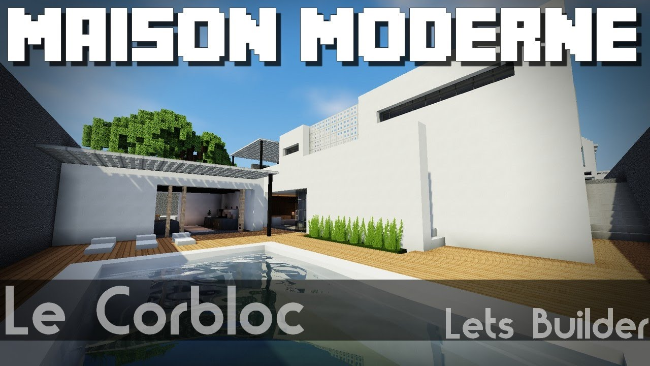 Minecraft - Maison moderne à base carré