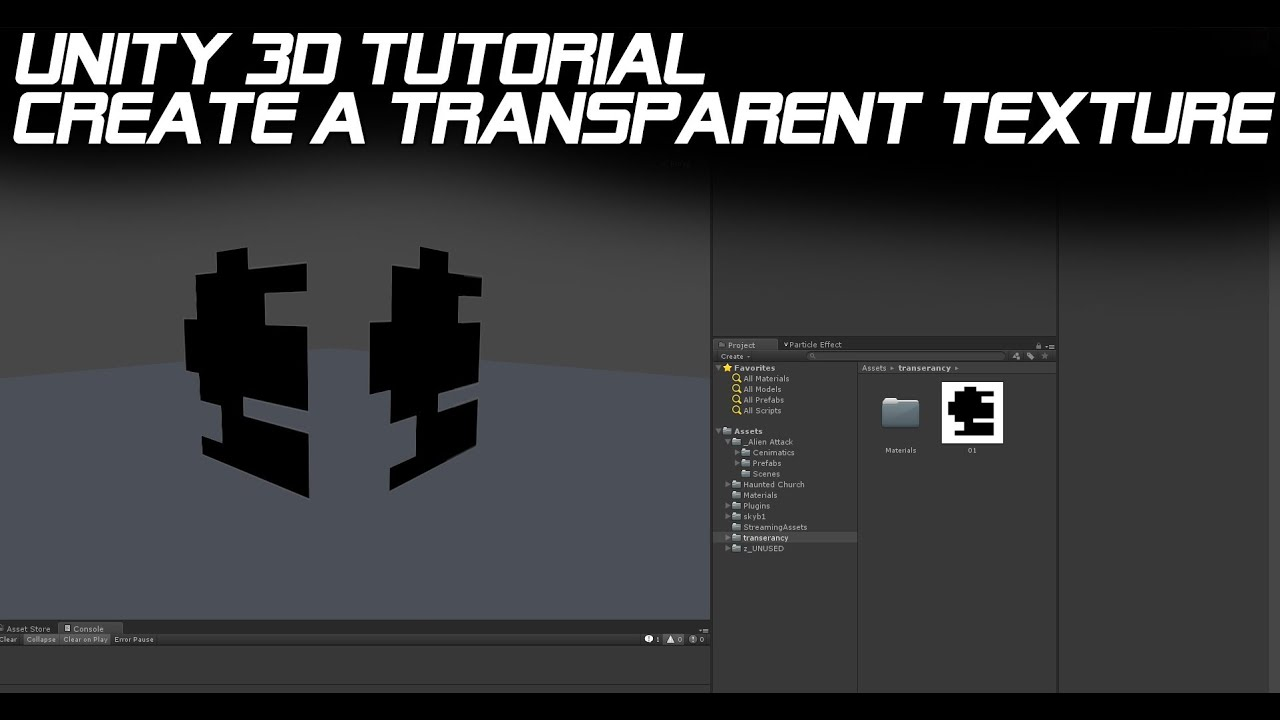 Unity 3d tutorial create a transparent texture youtube for 3d building creator