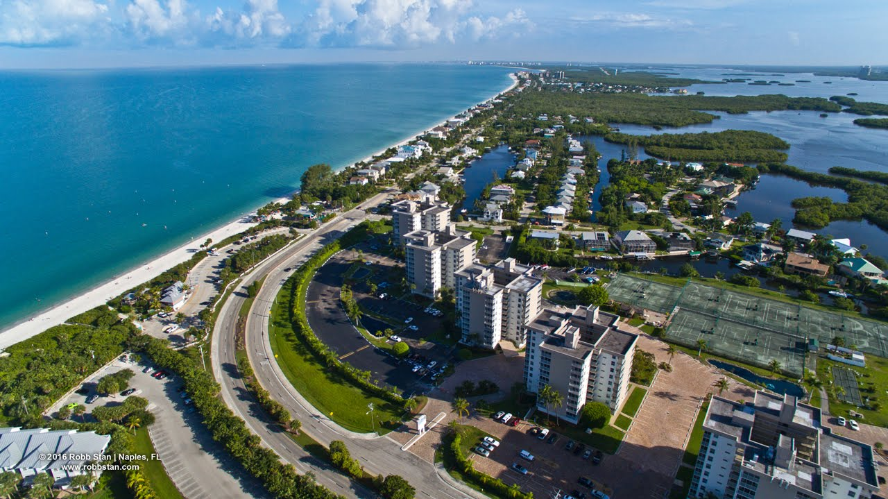 Aerial Video Of Little Hickory Island And Bonita Beach Springs Fl You