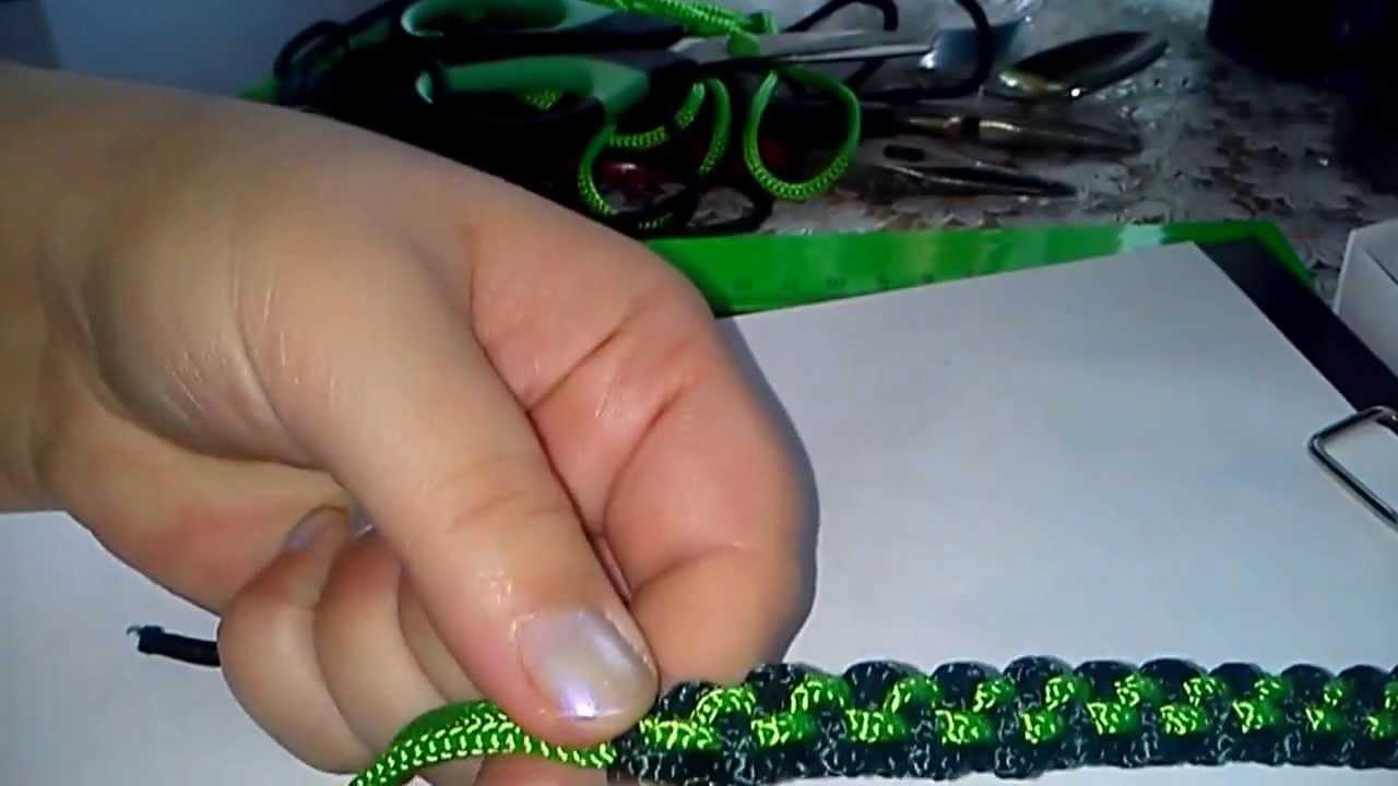 Фенечка из шнура схема