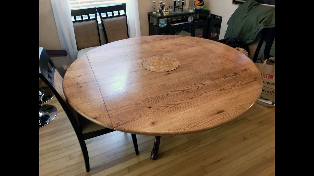 Round to Square Drop Leaf Table Top - YouTube