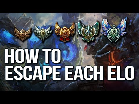 HOW TO ESCAPE EACH ELO & CLIMB - Differences between each rank (League of Legends)