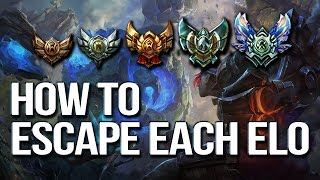 HOW TO ESCAPE EACH ELO & CLIMB - Differences between each rank (League of Legends) thumbnail